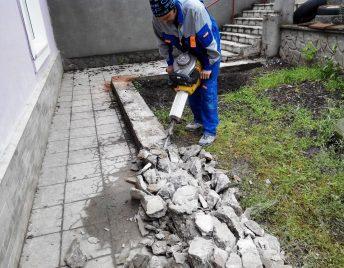 Демонтаж бетона, асфальта