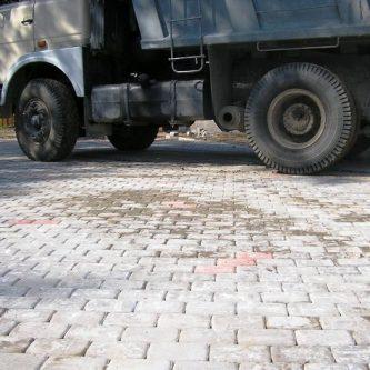 С заливкой бетона для тяжелого транспорта